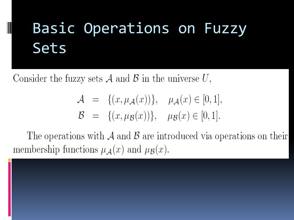 Basic Operations on Fuzzy Sets