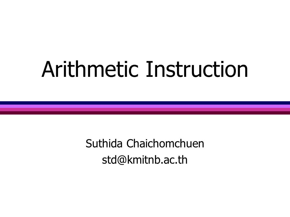 Arithmetic Instruction