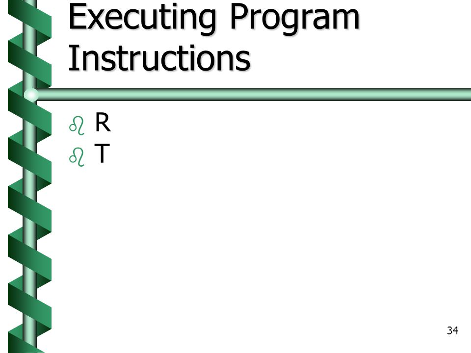 Executing Program Instructions