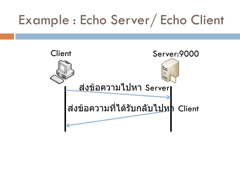 Example : Echo Server/ Echo Client