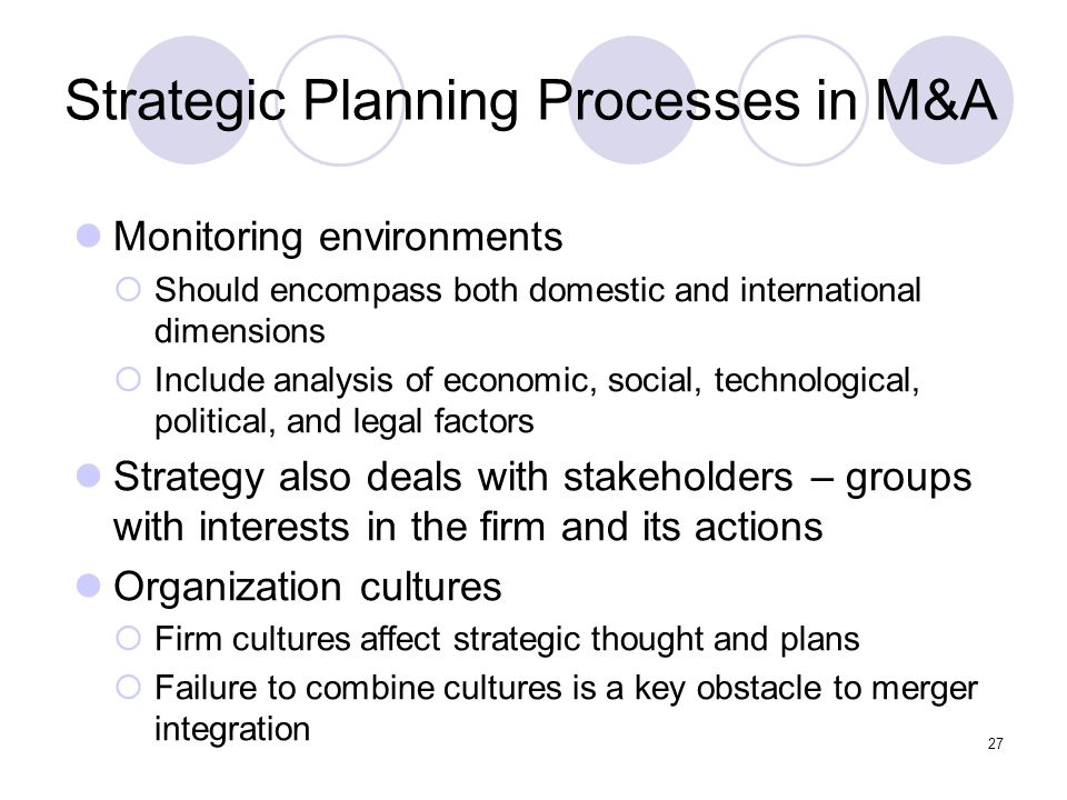 Strategic Planning Processes in M&A