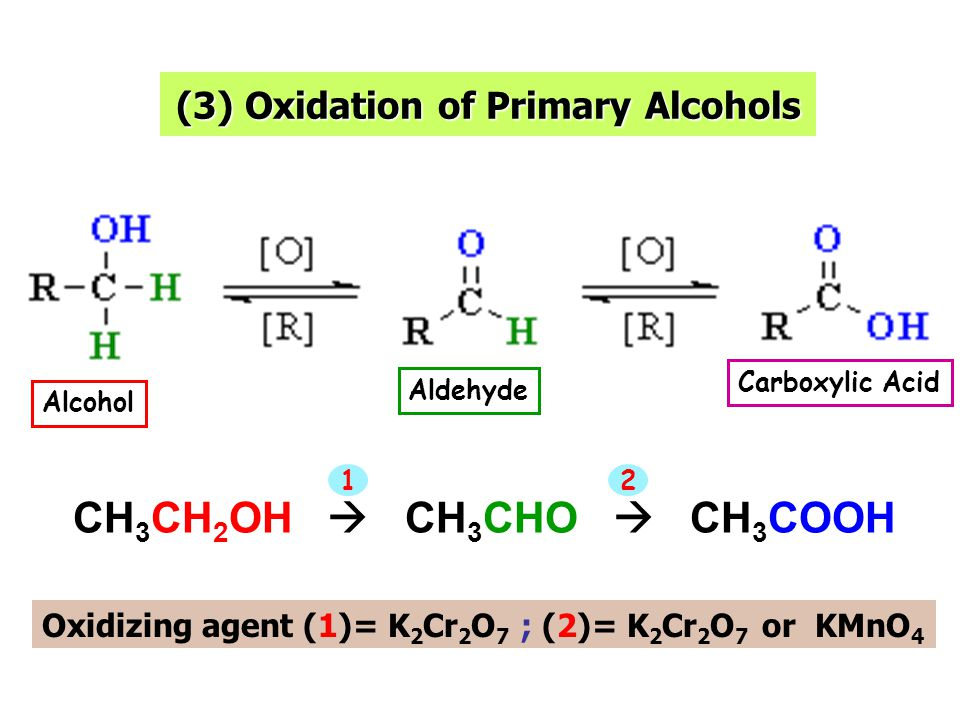 (3) Oxidation of Primary Alcohols