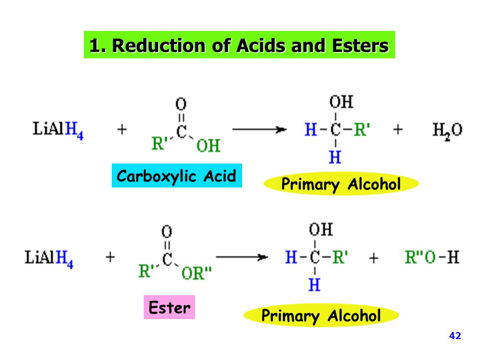 1. Reduction of Acids and Esters