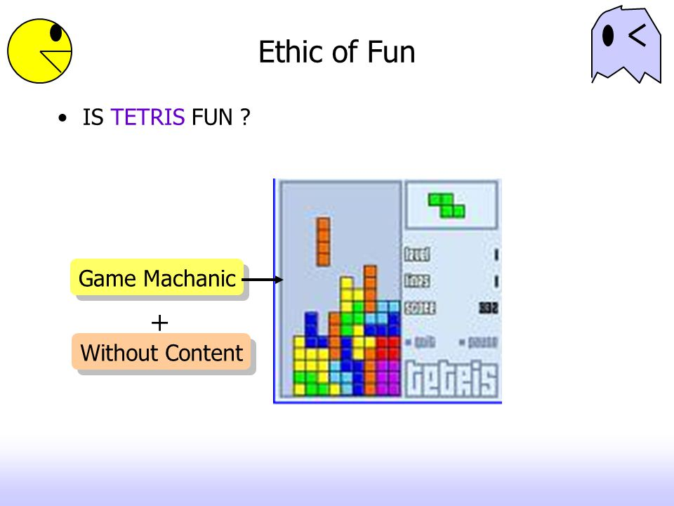 Ethic of Fun IS TETRIS FUN Game Machanic + Without Content