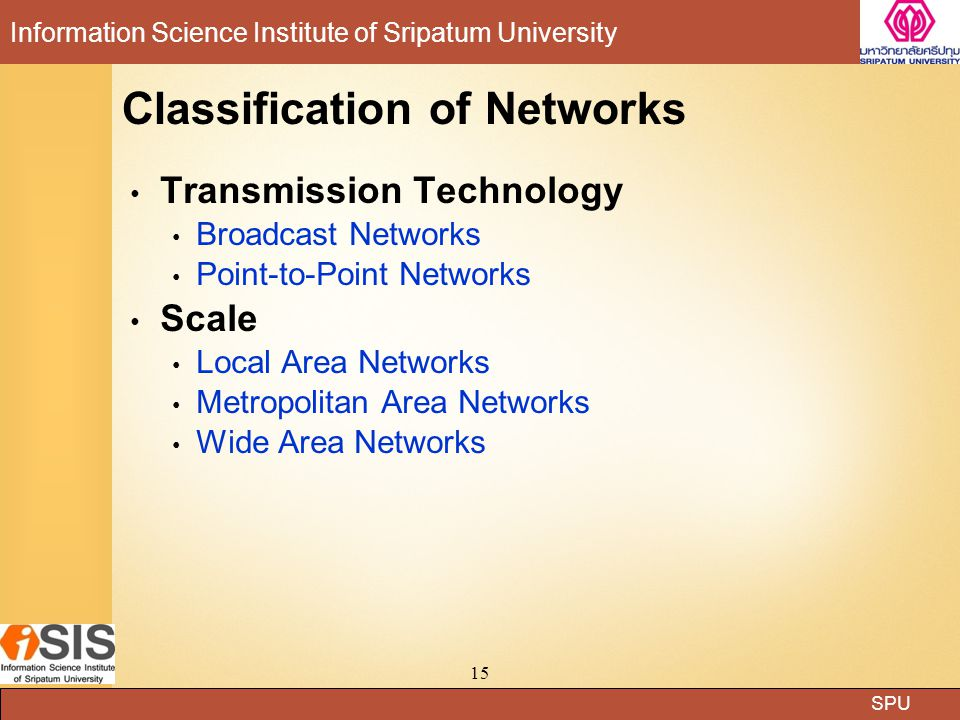 Classification of Networks