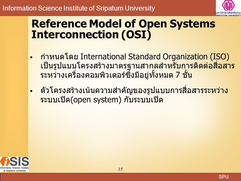 Reference Model of Open Systems Interconnection (OSI)