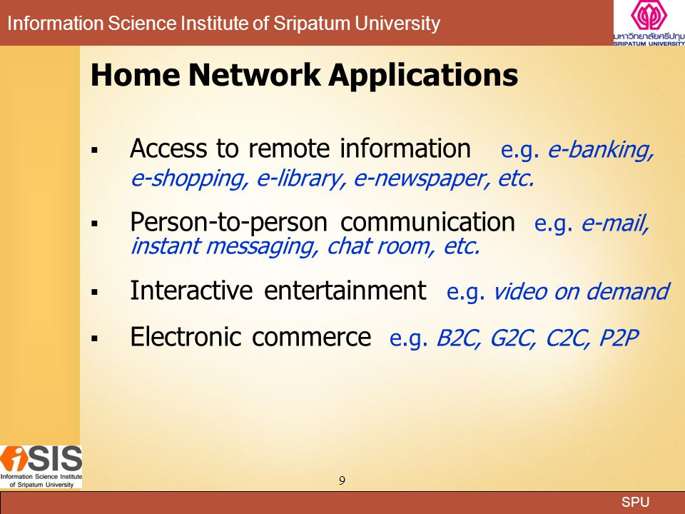 Home Network Applications