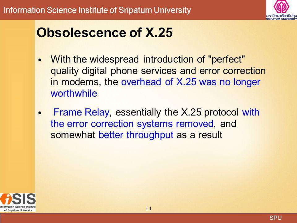 Obsolescence of X.25