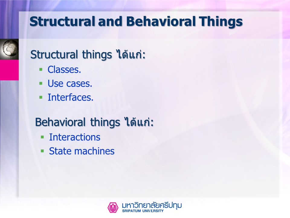 Structural and Behavioral Things