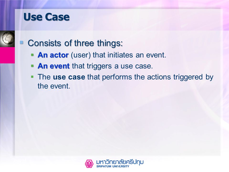 Use Case Consists of three things: