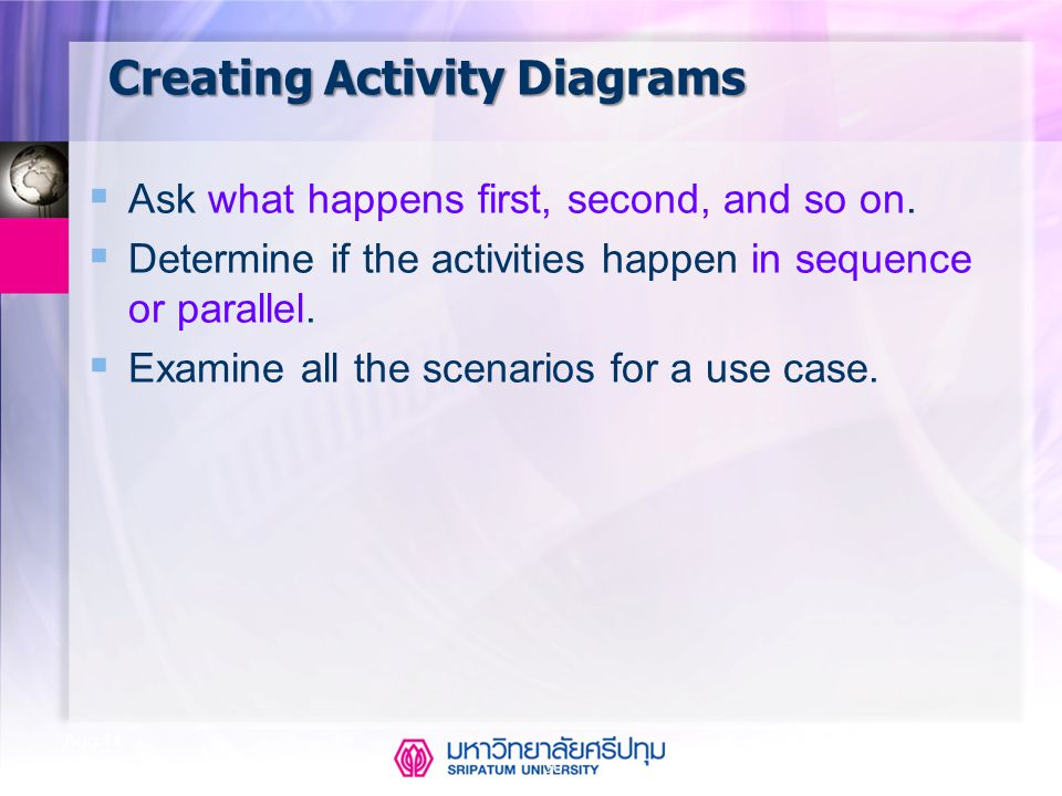 Creating Activity Diagrams
