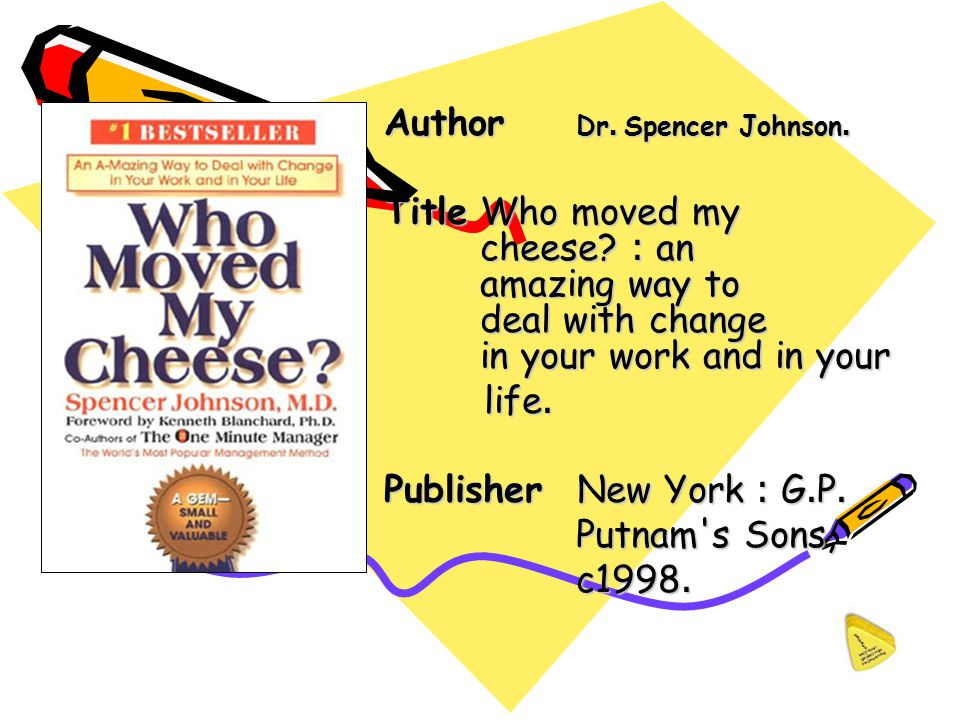 Author Dr. Spencer Johnson.