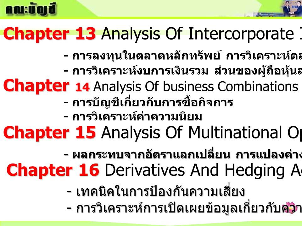 Chapter 13 Analysis Of Intercorporate Investment