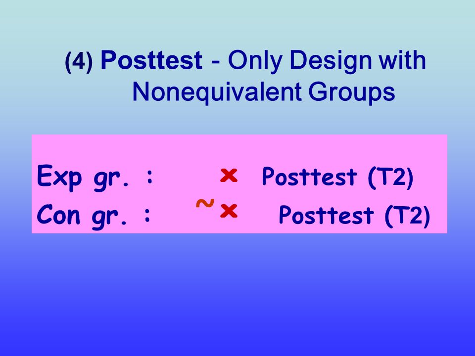 (4) Posttest - Only Design with Nonequivalent Groups