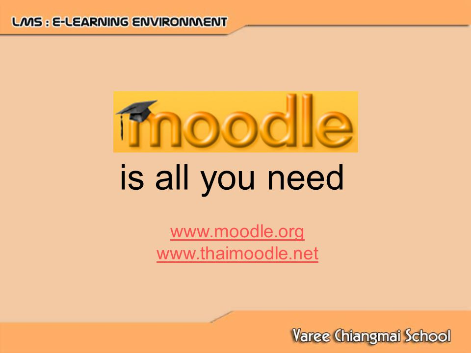 is all you need www.moodle.org www.thaimoodle.net