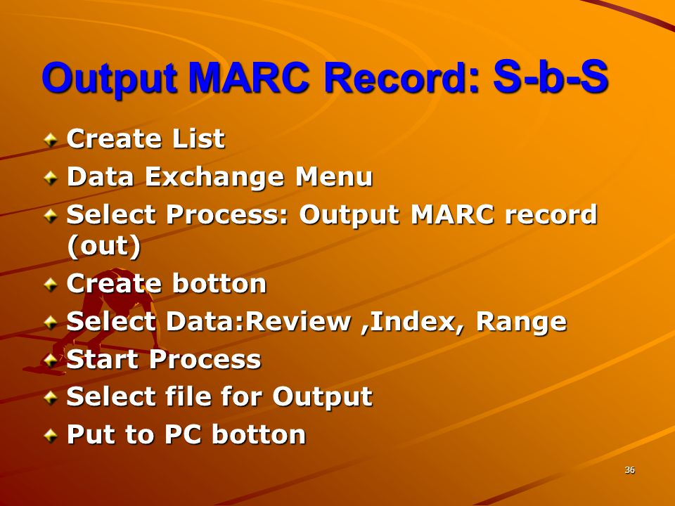 Output MARC Record: S-b-S