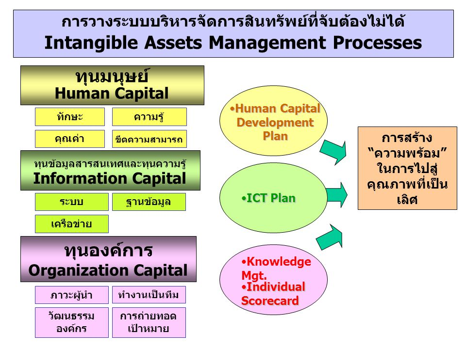 Intangible Assets Management Processes ทุนองค์การ