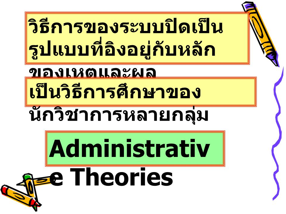 Administrative Theories