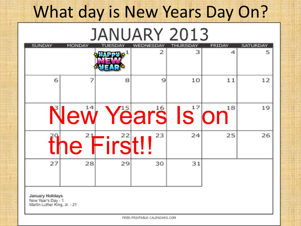 What day is New Years Day On
