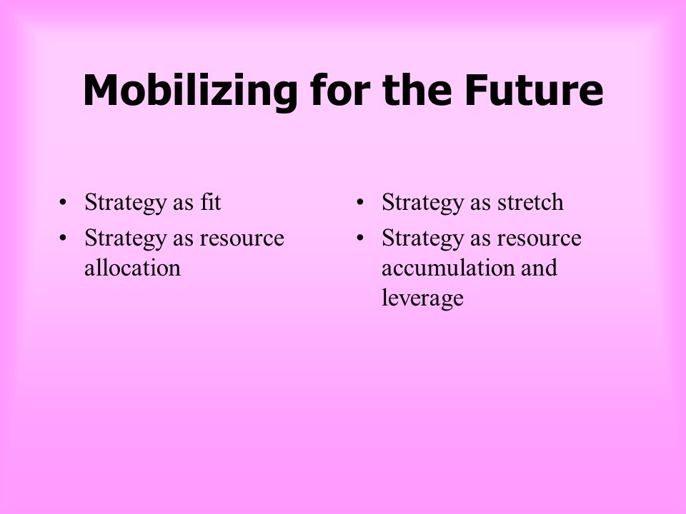 Mobilizing for the Future