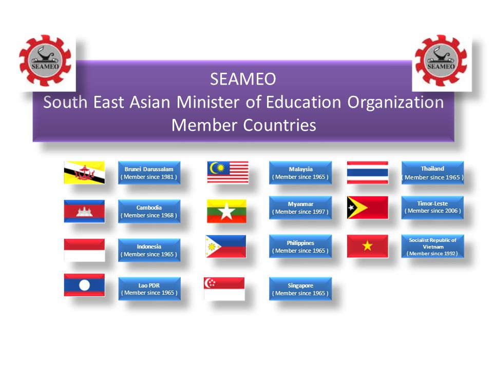 South East Asian Minister of Education Organization Member Countries
