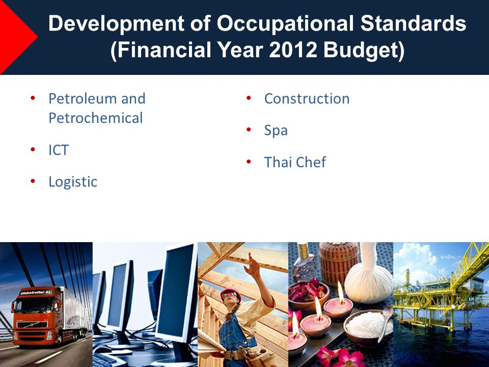 Development of Occupational Standards (Financial Year 2012 Budget)