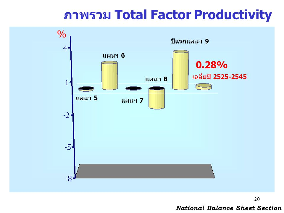 ภาพรวม Total Factor Productivity