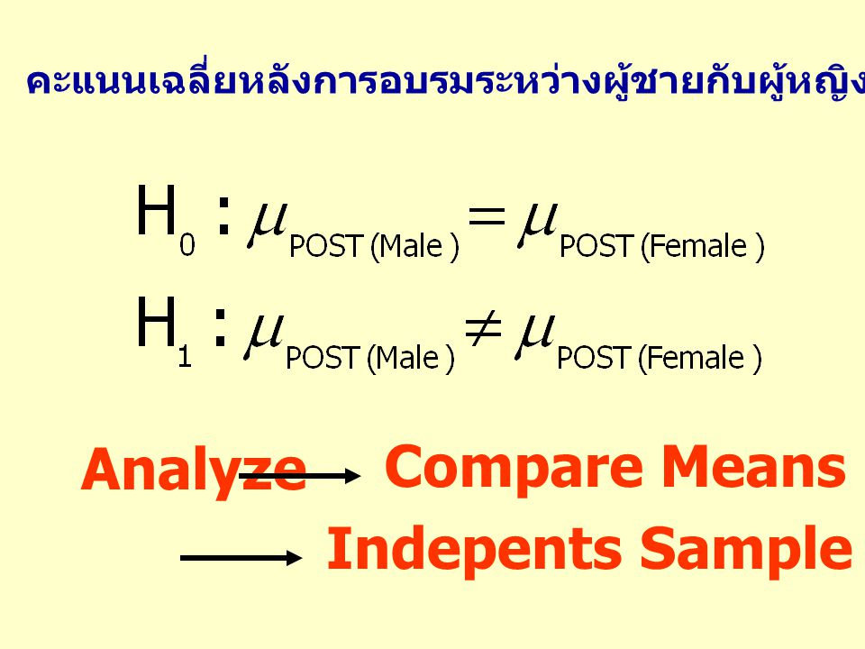 Indepents Sample t-Test…