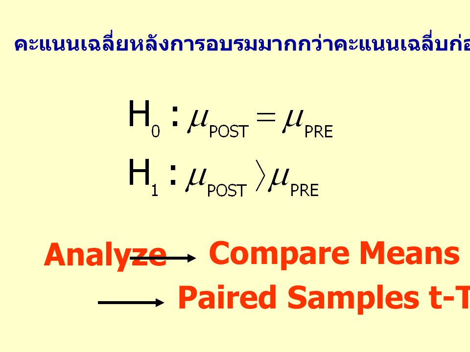 Paired Samples t-Test…