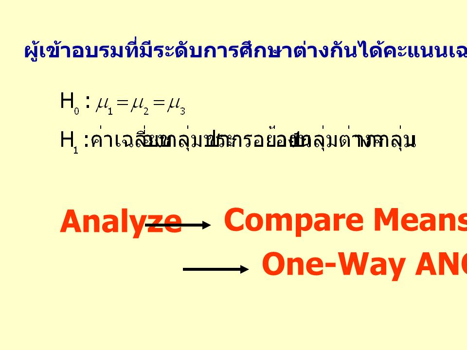 Analyze Compare Means One-Way ANOVA…