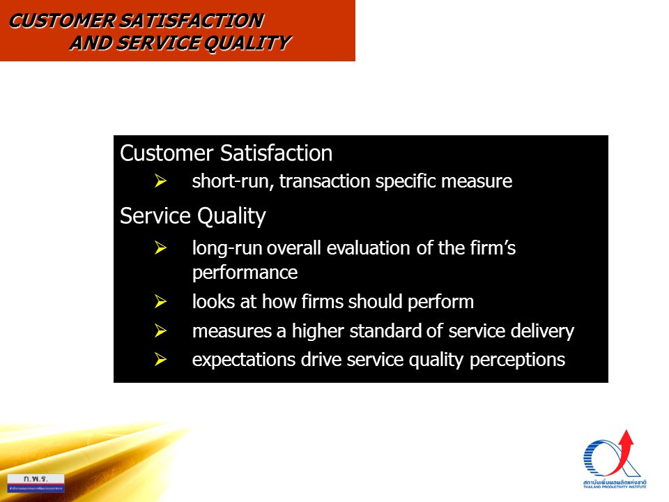 Customer Satisfaction Service Quality