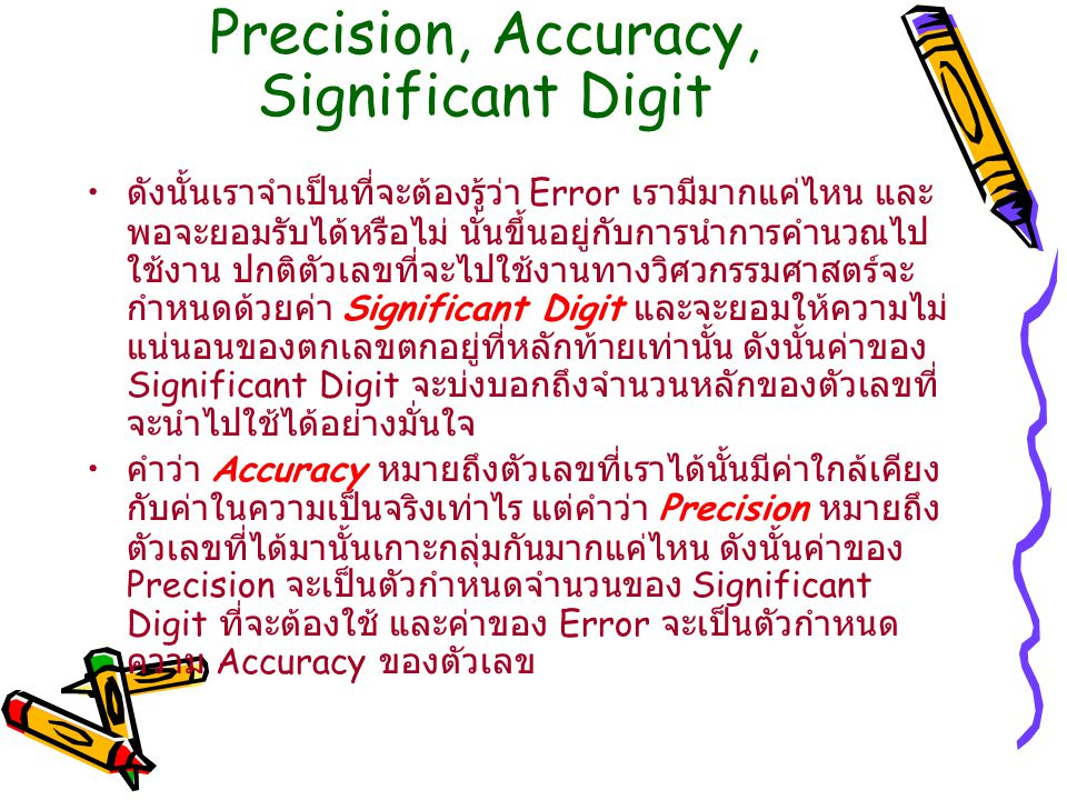 Precision, Accuracy, Significant Digit
