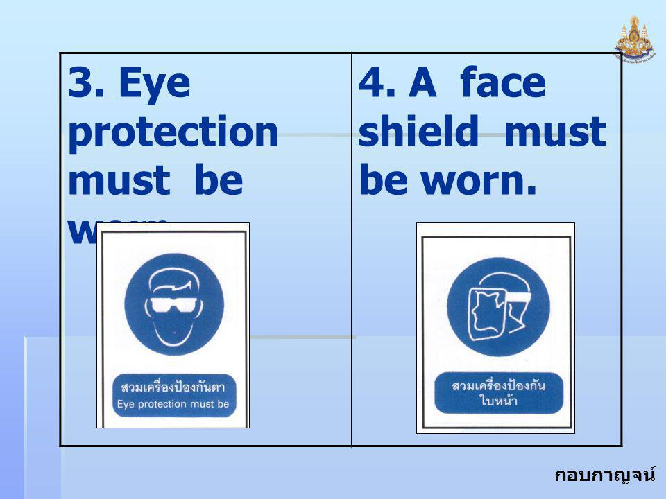 3. Eye protection must be worn