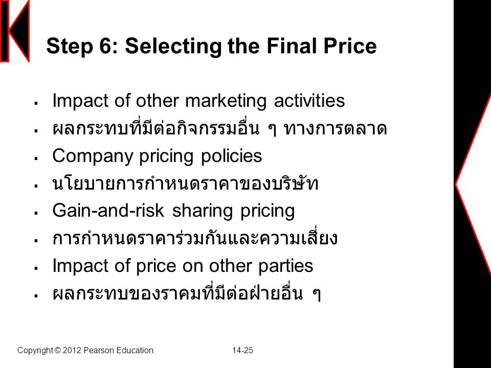 Step 6: Selecting the Final Price