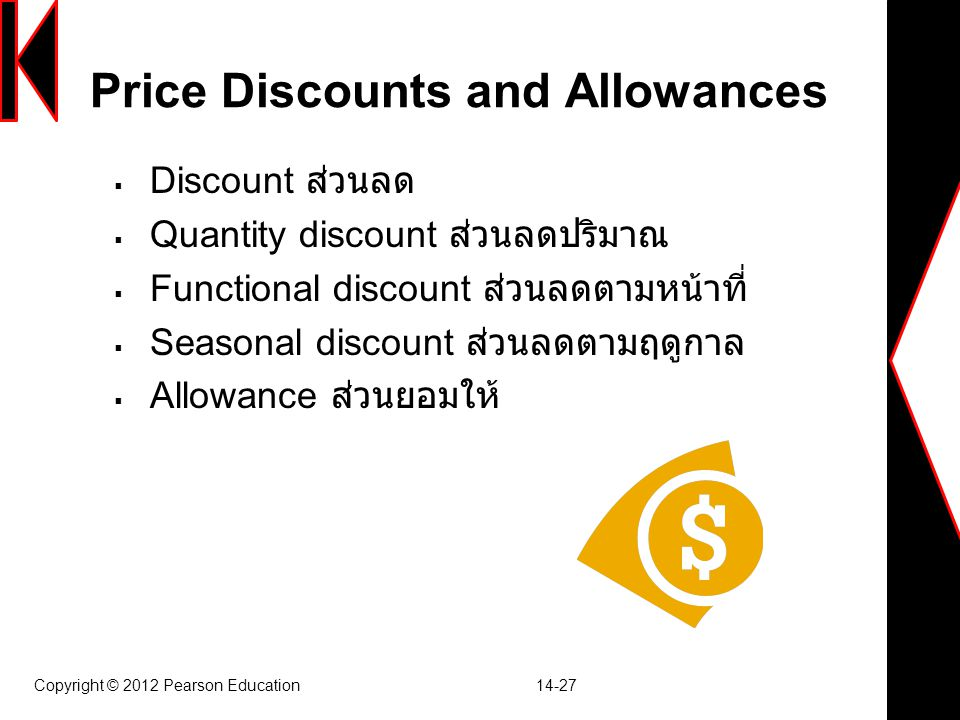Price Discounts and Allowances