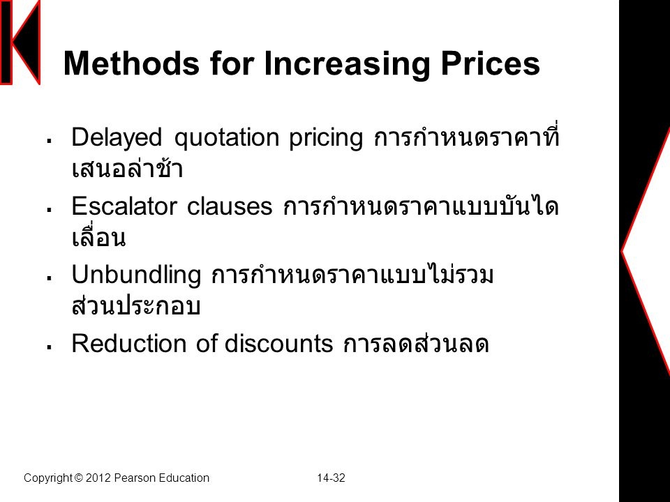 Methods for Increasing Prices