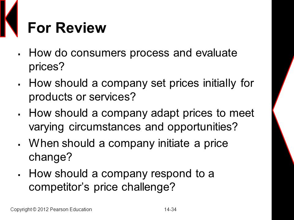 For Review How do consumers process and evaluate prices