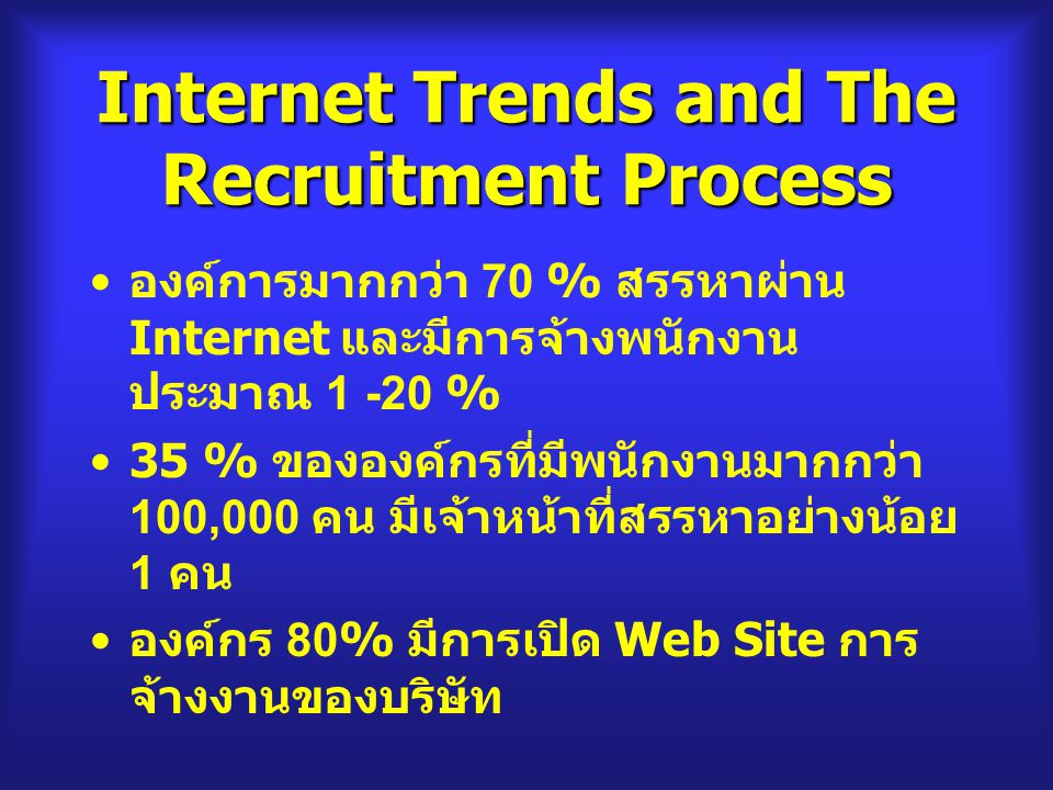 Internet Trends and The Recruitment Process