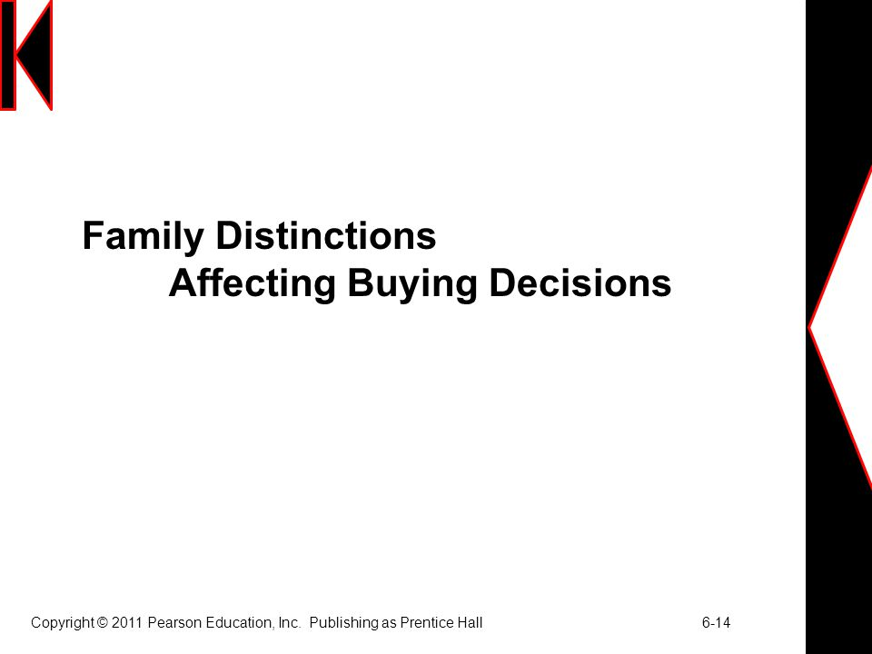 Family Distinctions Affecting Buying Decisions