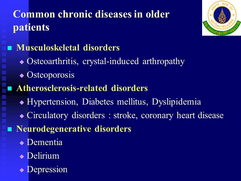 Common chronic diseases in older patients