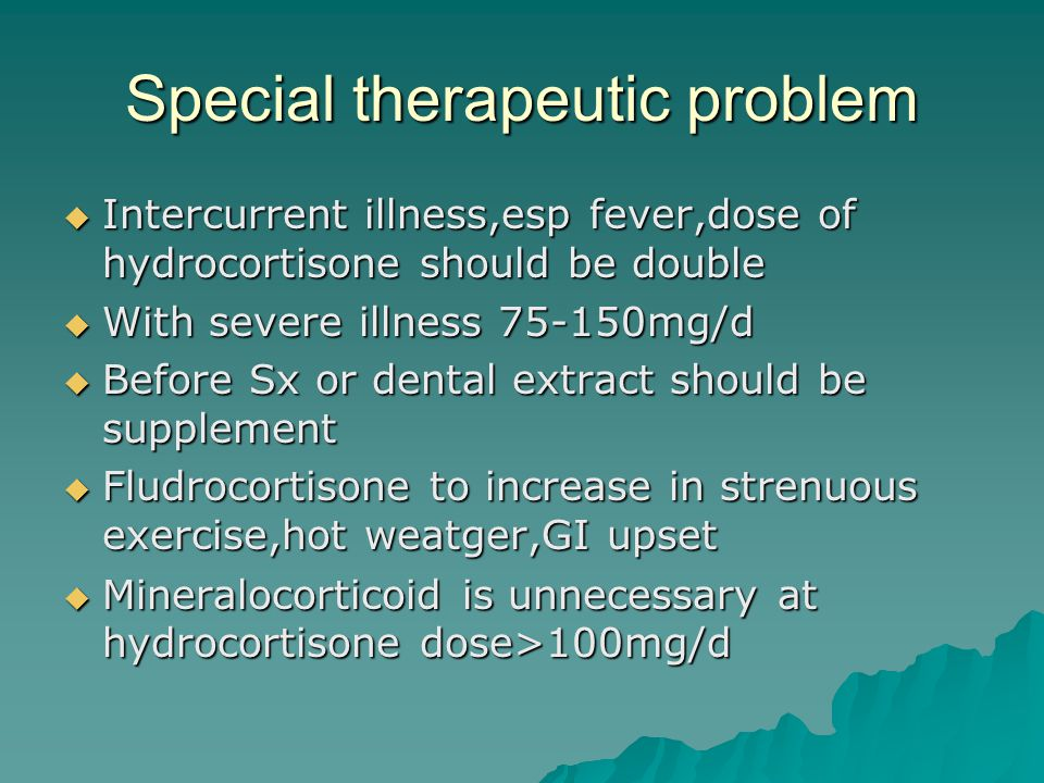 Special therapeutic problem