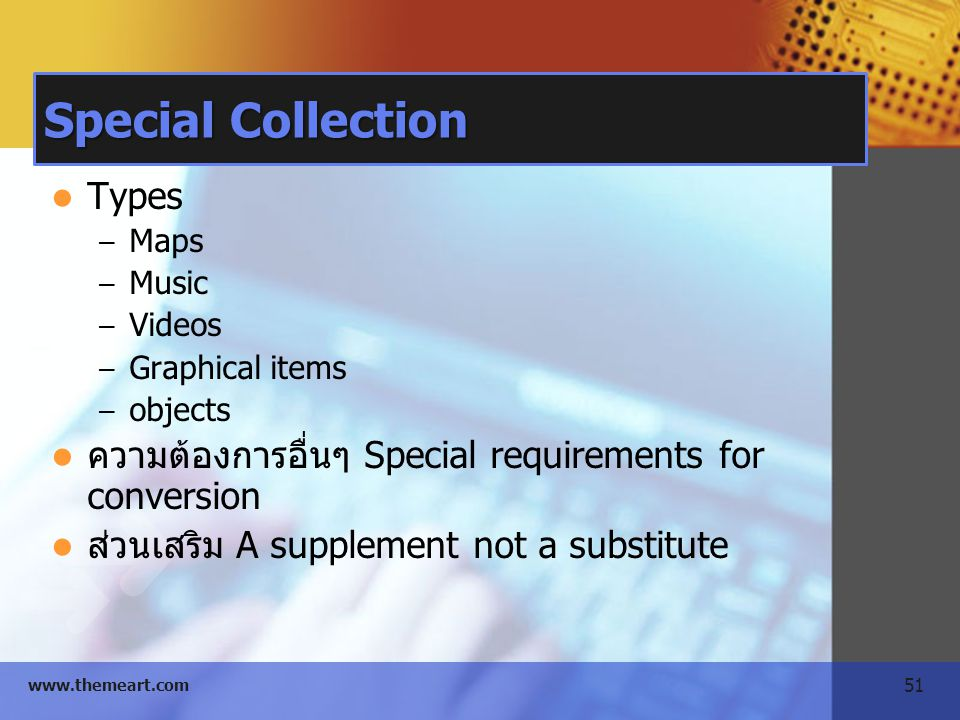 Special Collection Types