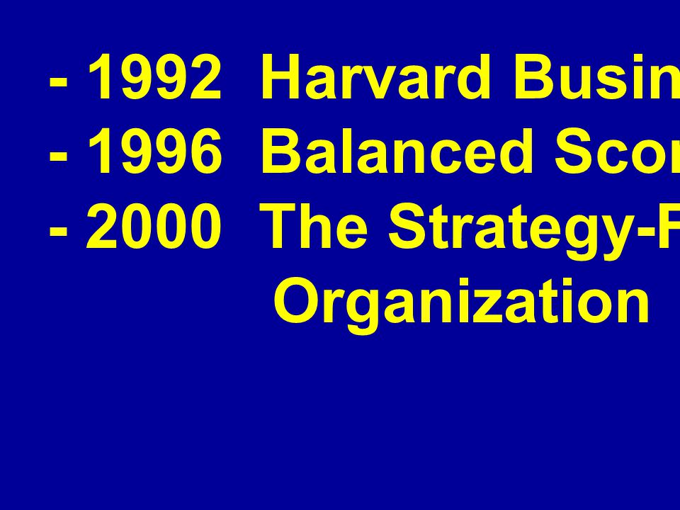 - 1992 Harvard Business Review