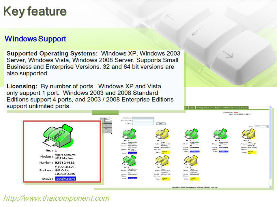 Key feature Windows Support http://www.thaicomponent.com 40
