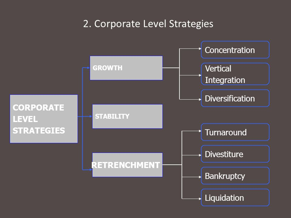 2. Corporate Level Strategies