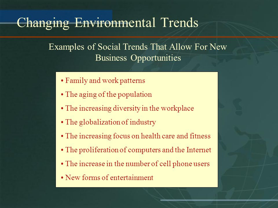 Changing Environmental Trends