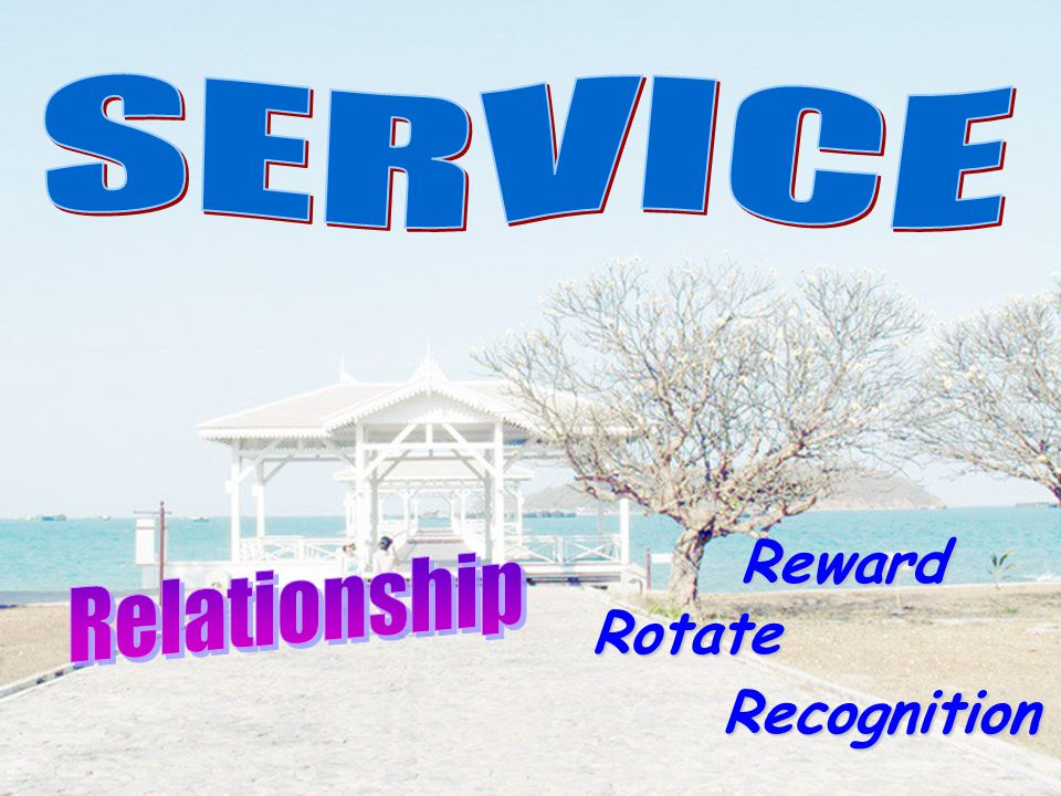 SERVICE Reward Relationship Rotate Recognition