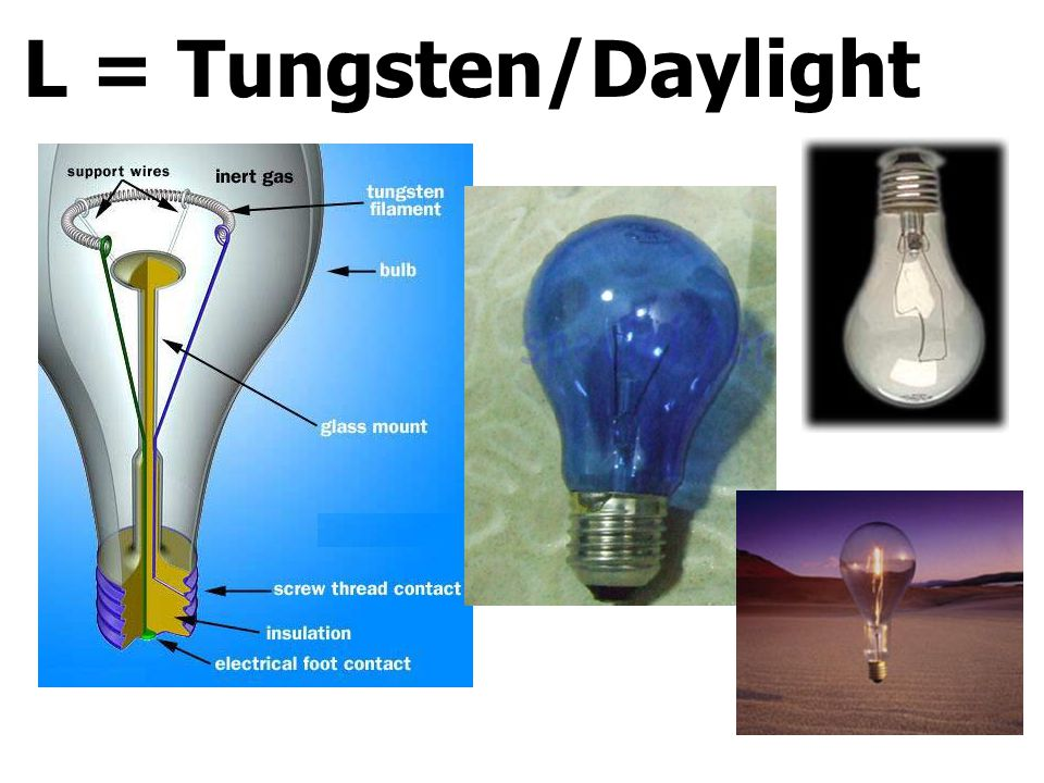 L = Tungsten/Daylight