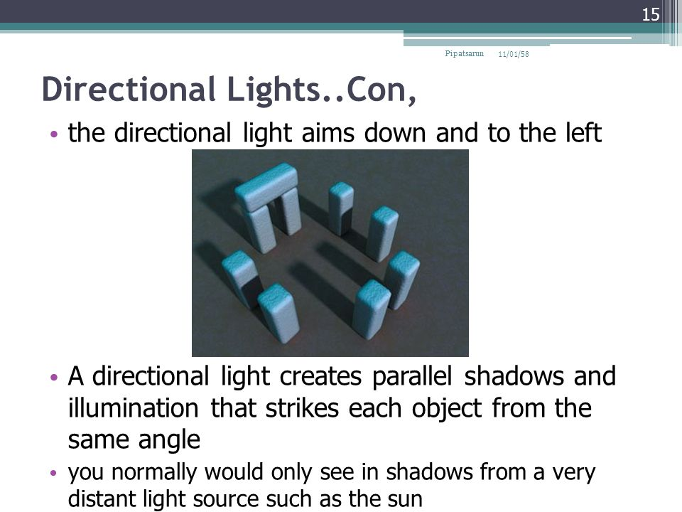 Directional Lights..Con,
