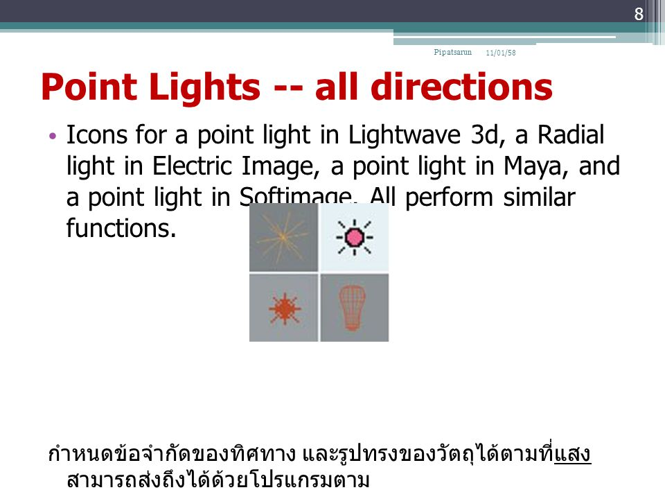Point Lights -- all directions